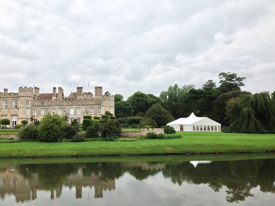 Marquee on the lawn at Deene Park