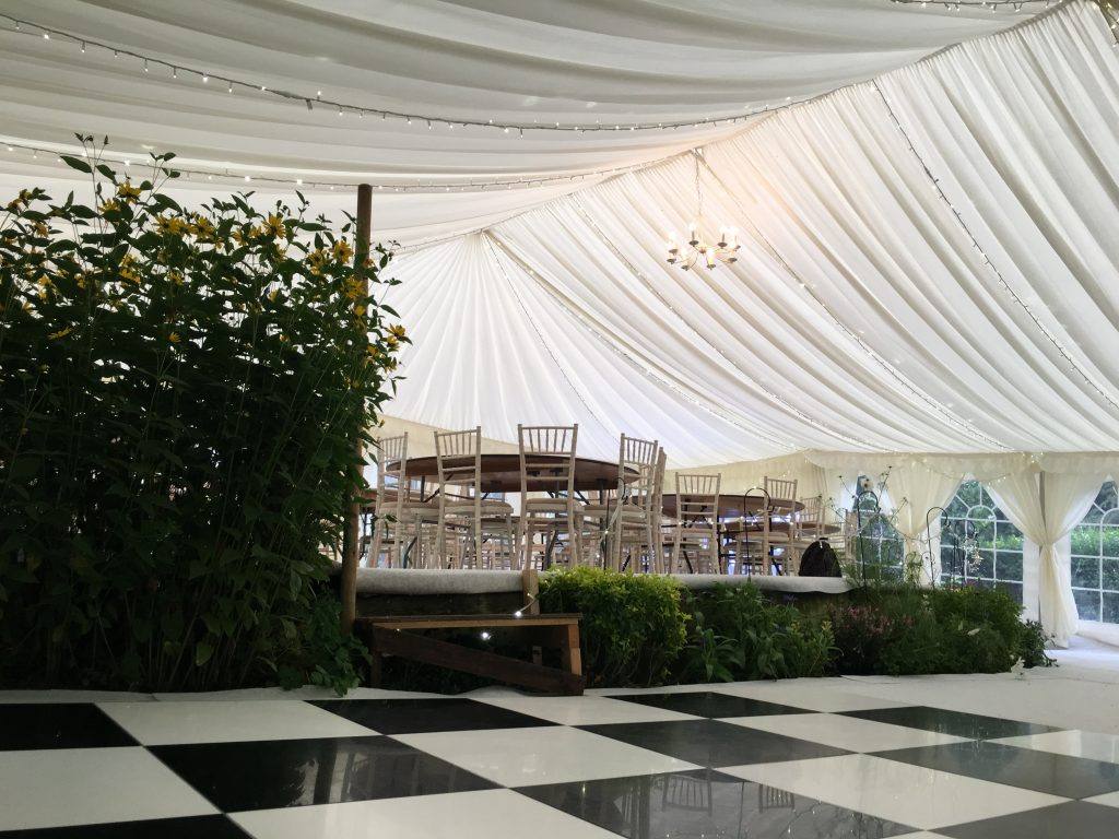 Wansford marquee interior