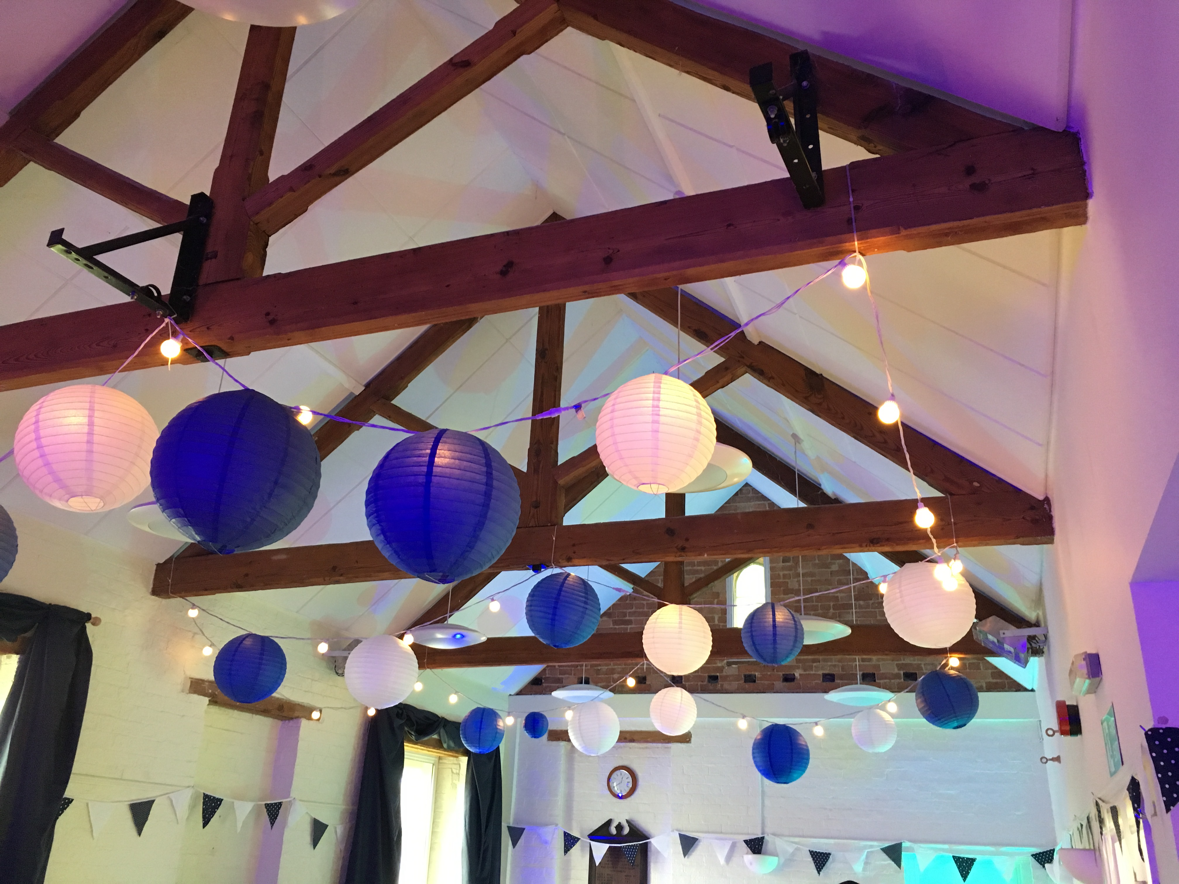 Paper Lanterns and Festoon Lighting